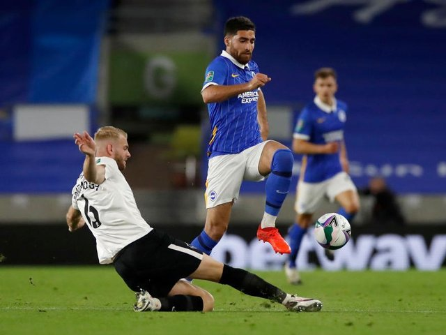 Alireza Jahanbakhsh scored one and created another during a 4-0 victory against Portsmouth