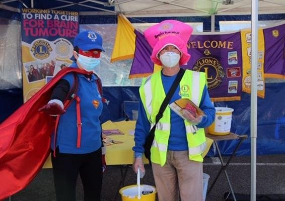Adur East Lions collecting for Brain Tumour Research at Shoreham Artisans' Market on Saturday
