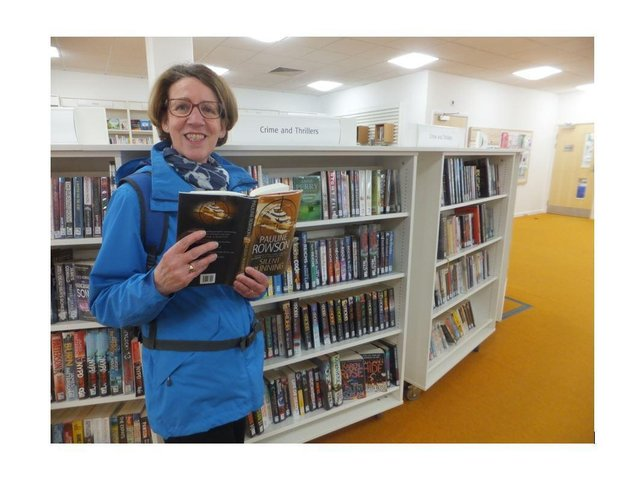Crime author Pauline Rowson at Newhaven Library