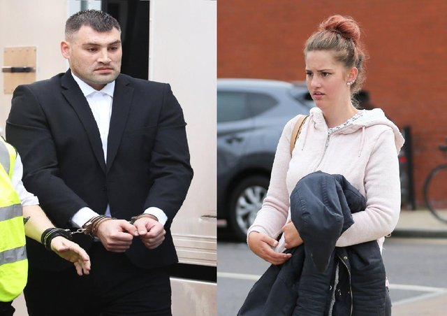 Crowborough parents Michael Roe and Tiffany Tate outside court