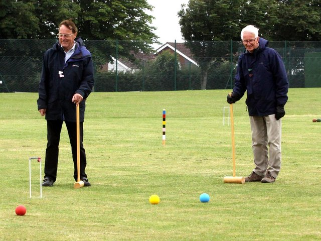 The Uckfield U3A Croquet Group enjoy their sport at the Victoria Pleasure Ground / Pictures: Ron Hill