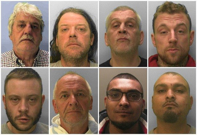 Some of the criminals jailed in February SUS-210303-161318001