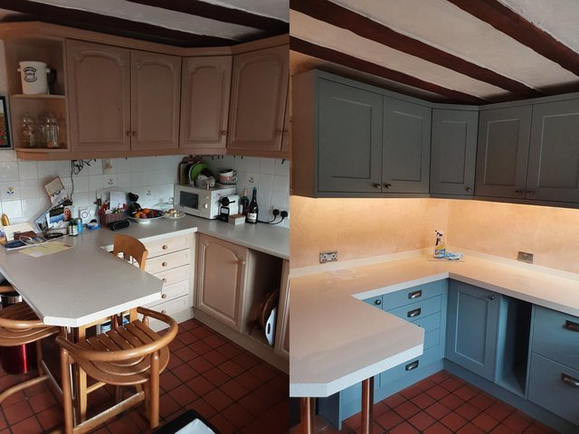 A kitchen makeover by Dream Doors