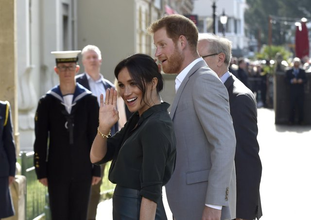 The Duke and Duchess of Sussex, Prince Harry and Meghan Markle visiting Brighton. Picture: Allan Hutchings