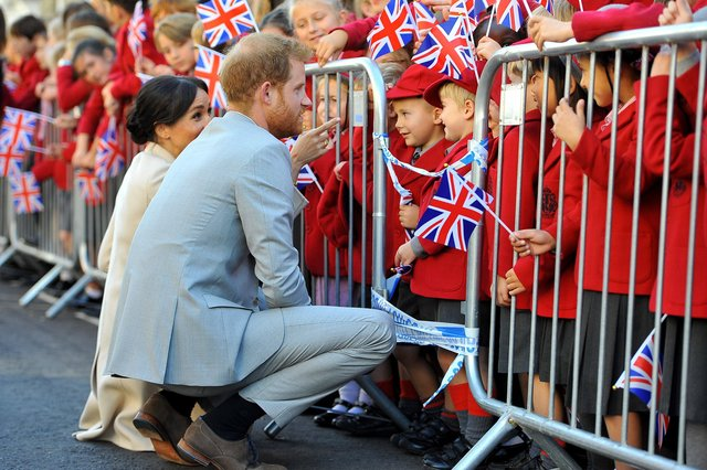 Harry and Meghan, Duke and Duchess of Sussex visit Chichester. Pic Steve Robards SR1825324 SUS-190321-170847003