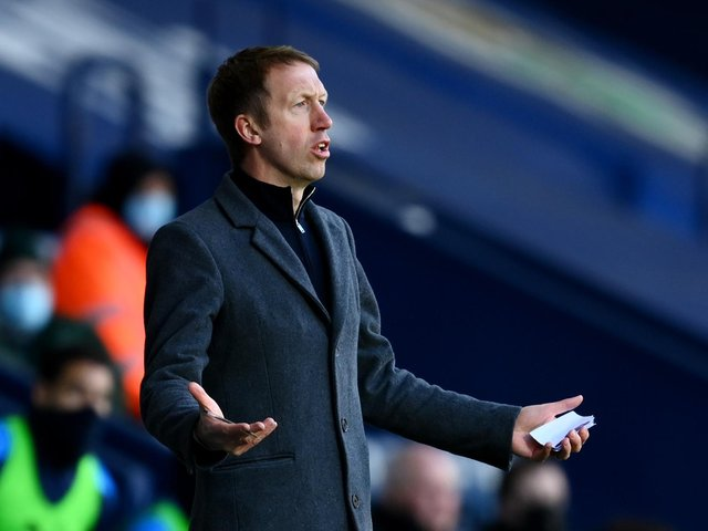 Graham Potter is staying calm about his team's lack of goals - and their results / Picture: Getty