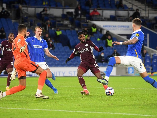 Kelechi Iheanacho scores Leicester's first goal