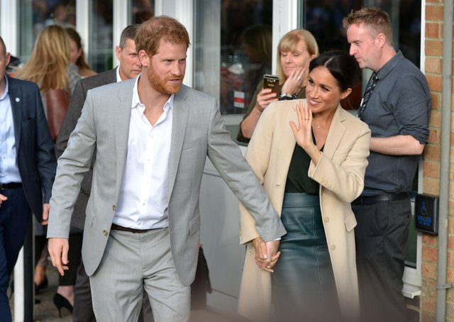 Prince Harry and Meghan Markle, the Duke and Duchess of Sussex, visit  Joff Youth Centre in Peacehaven. SUS-190321-170706003