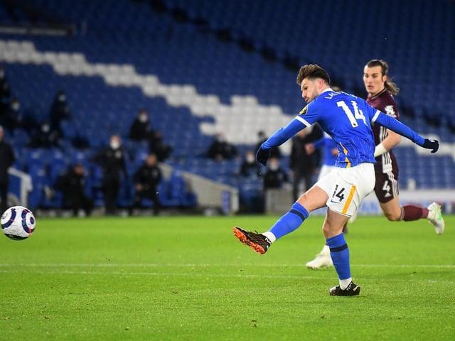 Adam Lallana scores against Leicester City on Saturday