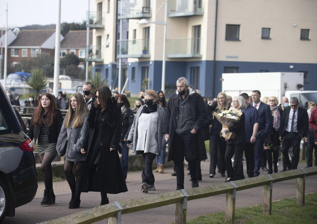 Hundreds of people turned out for fisherman Robert Morley's funeral in Newhaven