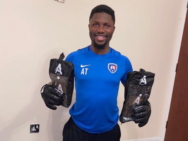 Amadou Tangara has put lockdown time to good use in developing his goalkeeping business interests