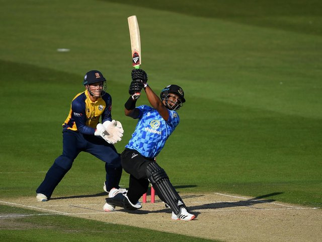 Delray Rawlins helps to strike Sussex to T20 Finals Day / Picture: Getty