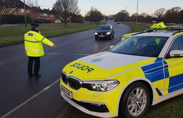 Police carrying out a spot check. Picture from Sussex Police SUS-211103-175324001