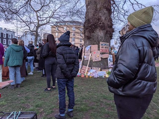 Crowds gather in Valley Gardens
