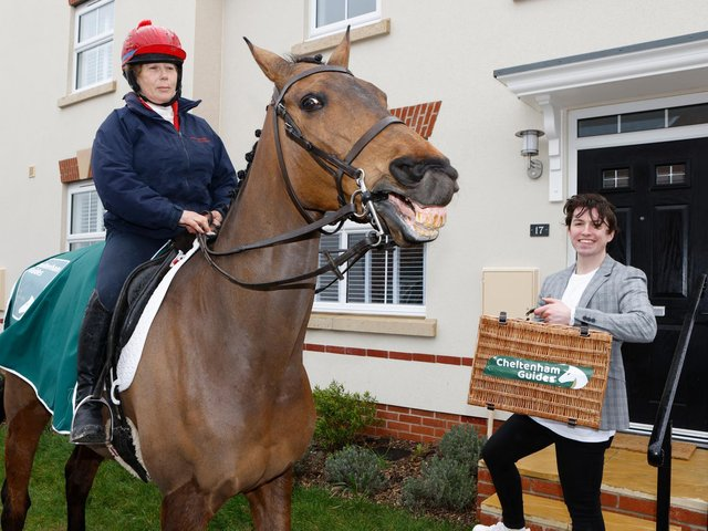 Coneygree is the mane attraction in a Gloucester cul-de-sac as he visits competition winner Dan Ashton