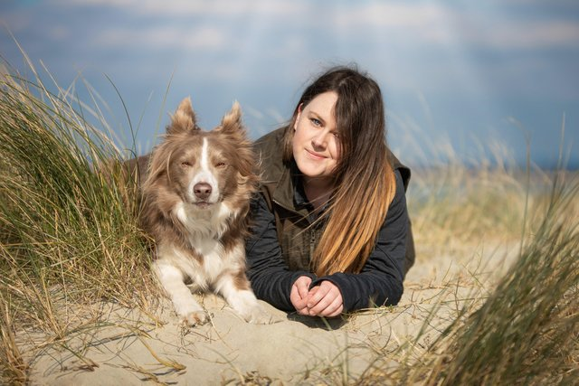Dog trainer Lucy Rose, 26, with her Border Collie Bodhie