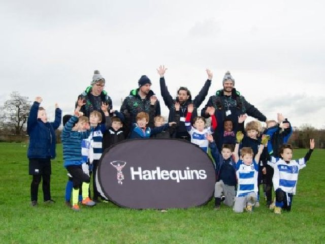 Harlequins are back with Easter Camps at Lewes RFC. Picture courtesy of Dereck Wade
