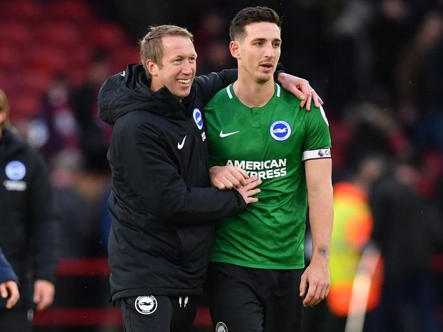 Graham Potter believes inspirational skipper Lewis Dunk has taken his game to a higher level this season