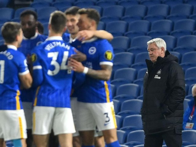 Steve Bruce's Newcastle are in serious danger of relegation after their dismal 3-0 loss at Brighton