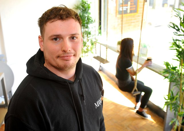 Eliot Rogers, co-owner of Mama Fit, a new cafe and gym at The Martlets Shopping Centre, Burgess Hill. Picture by Steve Robards