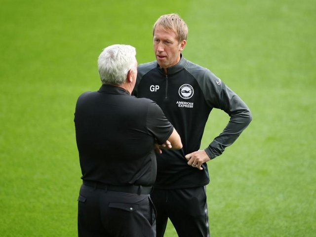Graham Potter's Brighton beat Steve Bruce's Newcastle at the Amex last Saturday to shake up the relegation battle