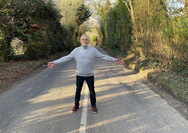 Ian Gelder wants to the see the speed limit reduced on Grove Hill