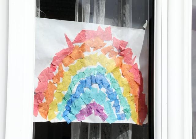 During lockdowns people have displayed rainbows in their windows