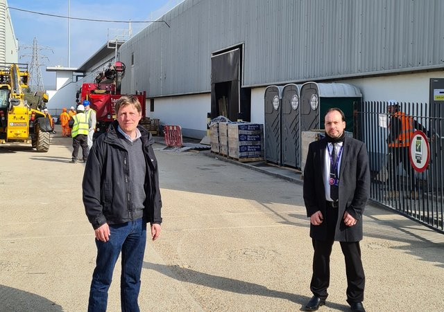 Councillor James McCleary with Darren Randall, the Range Area Manager