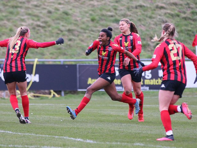 Lewes Women have plenty to celebrate following the announcement of the blockbuster new TV deal with the FA Women's Super League and the BBC and Sky. Picture by James Boyes