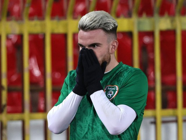 Brighton striker Aaron Connolly hobbled of during Ireland's defeat against Serbia