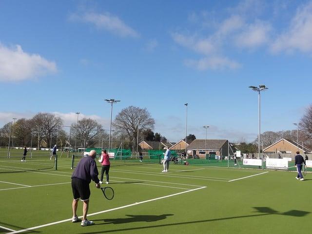 The action restarts under sunny skies at Hailsham TC