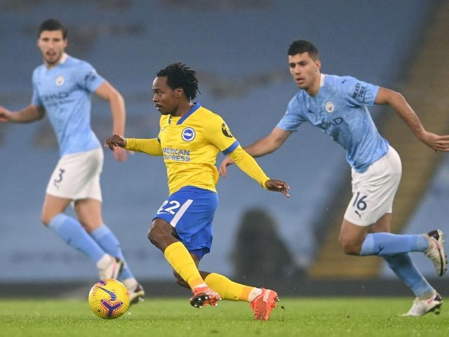 Percy Tau impressed on his PL debut at Man City but has rarely featured since