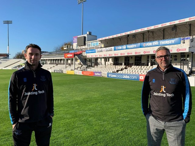 James Kirtley, left, and Ian Salisbury are excited about Sussex's 2021 squad and their roles in leading the county in three different formats