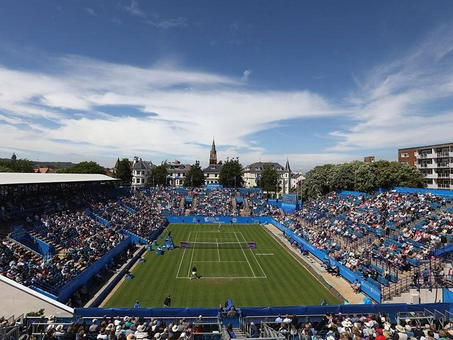 The centre court at Devonshire Park will hope to welcome tennis fans once more in June for the Eastbourne International