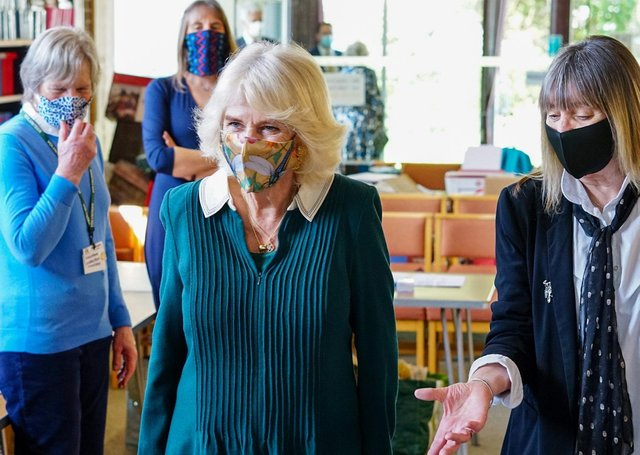 The Duchess of Cornwall at the the foodbank