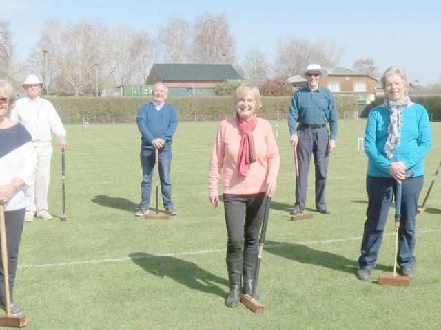Chichester Croquet Club players back on the lawn