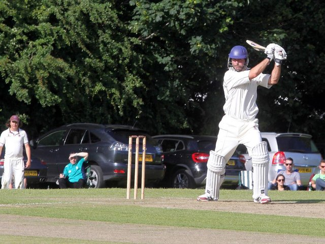 Piers Morgan lures some top cricket names and other famous faces to his annual match at Newick - this is Michael Vaughan / Pictures: Ron Hill