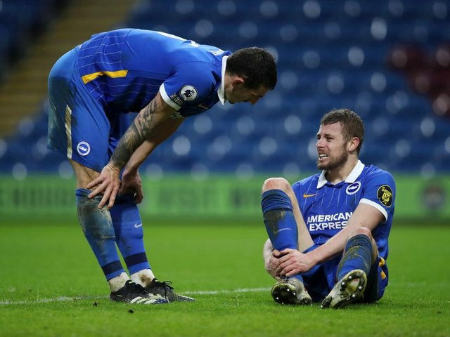 Brighton defender Adam Webster has not featured since the 1-1 draw at Burnley