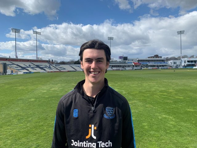 Ali Orr has signed his first professional contract at Sussex. Picture courtesy of Sussex Cricket