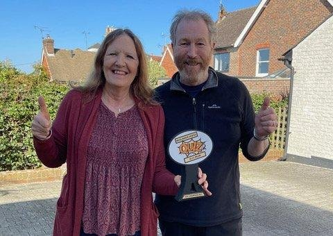 Sussex hospices quiz winners Catherine and Nigel Beatty SUS-210704-092452001