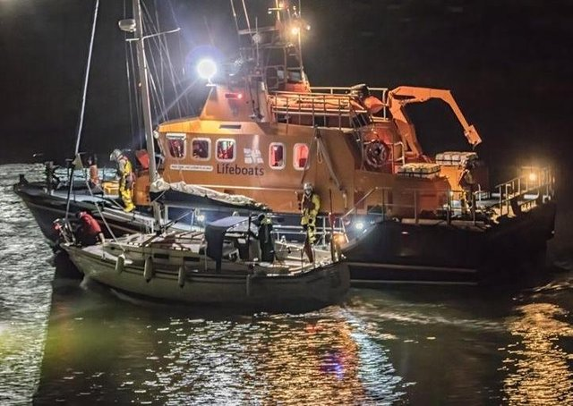The lifeboat in action this weekend