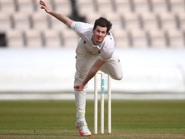 George Garton gets some overs in during Sussex's friendly with Hampshire last week / Picture: Getty