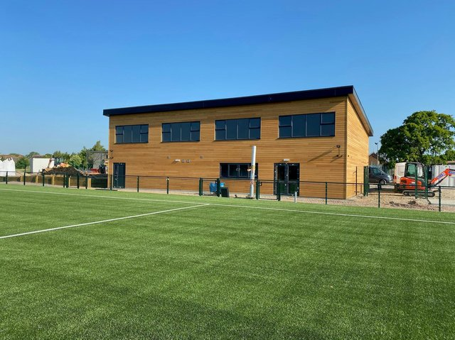 The new facilities ready for Ringmer AFC at Kings Academy