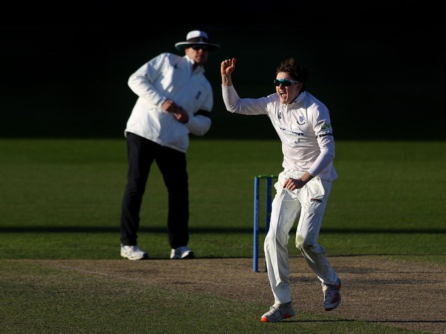 An lbw appeal from Jack Carson during Lancashire's reply / Picture: Getty