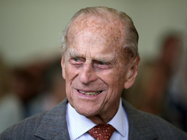 Prince Philip attends the Presentation Reception for The Duke of Edinburgh Gold Award holders in the gardens at the Palace of Holyroodhouse in 2017.  Photo by JANE BARLOWAFP via Getty Images