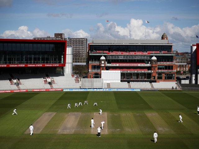 The sun precedes the snow at Old Trafford / Picture: Getty