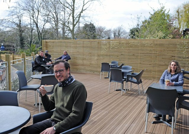 The new outdoor dining area at Paradise Park