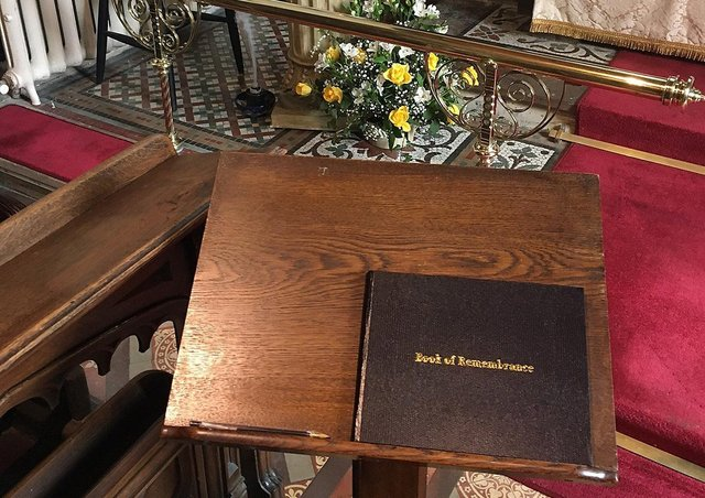 The book of condolences was only displayed for a short period of time