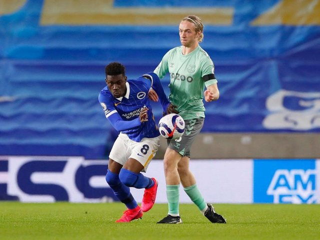 Yves Bissouma impressed for Brighton in the 0-0 draw against Everton