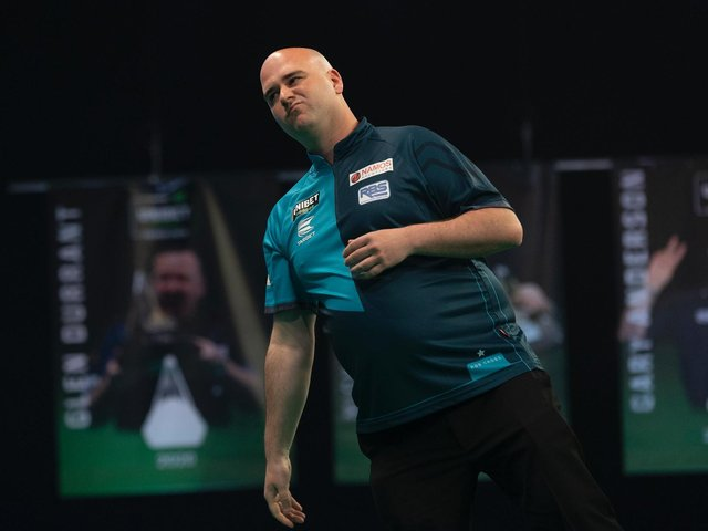Rob Cross in PL action / Picture: Lawrence Lustig - PDC